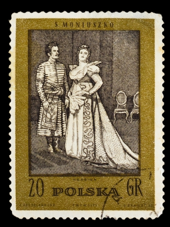 POLAND - CIRCA 1972: A stamp printed in POLAND, shows S. Moniuszko