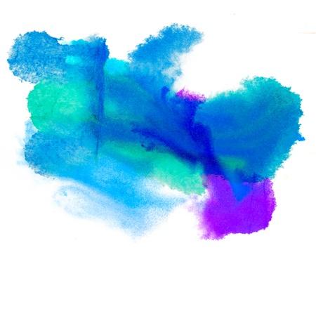 daub: color purple spot blue light macro blotch texture isolated white background