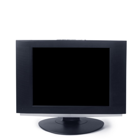 computer black screen isolated on white background Stock Photo - 16874777