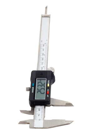 digital electronic caliper isolated  photo