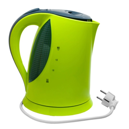 electric tea kettle: electric green tea kettle isolated on white background with clipping path