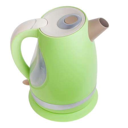 electric tea kettle: electric green tea kettle isolated(clipping path) Stock Photo