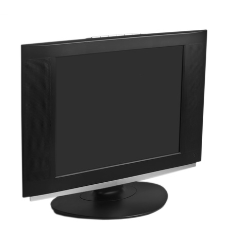 monitor computer screen  isolated on white background photo