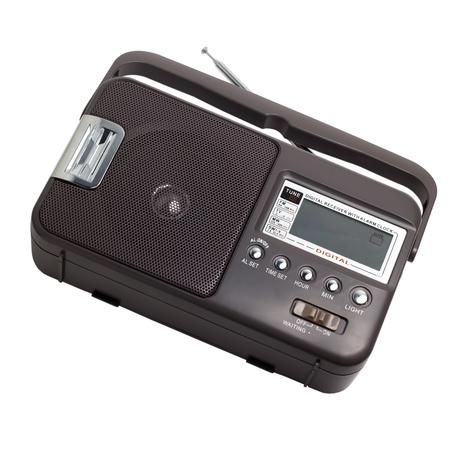 radio old isolated on white background photo