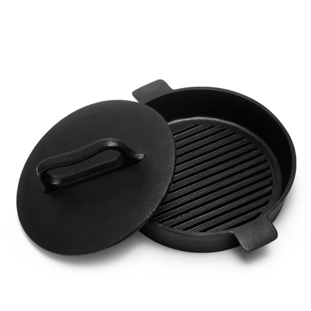 pan grill isolated on white background photo
