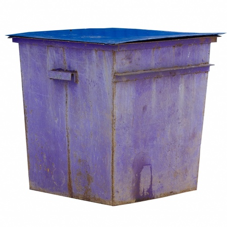 purple trash dumpster isolated on white background Stock Photo - 16899729