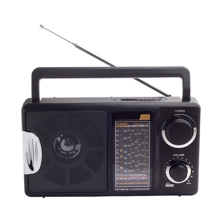 radio black isolated photo