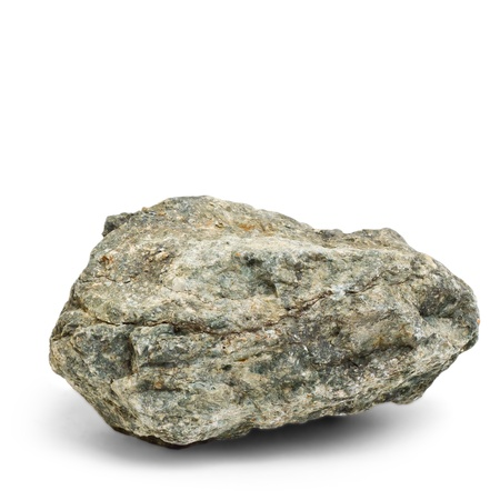 stone granite isolated on white background (in my portfolio have more photos of stones) photo