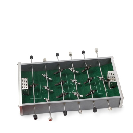 table soccer game isolated on white background photo