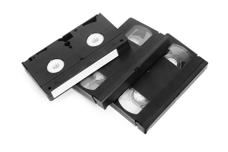 vhs videotape: classic vhs tape isolated on a white background