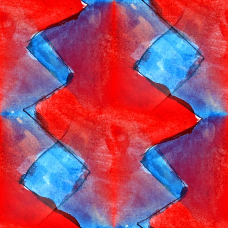 seamless background red blue abstract watercolor design ink photo