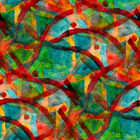 green red seamless cubism abstract art texture watercolor wallpaper background
