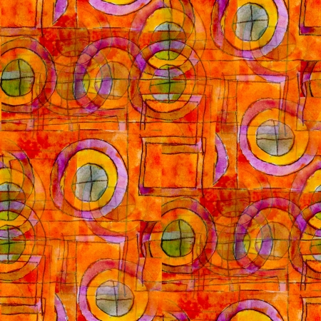 orange seamless cubism abstract art texture watercolor wallpaper background