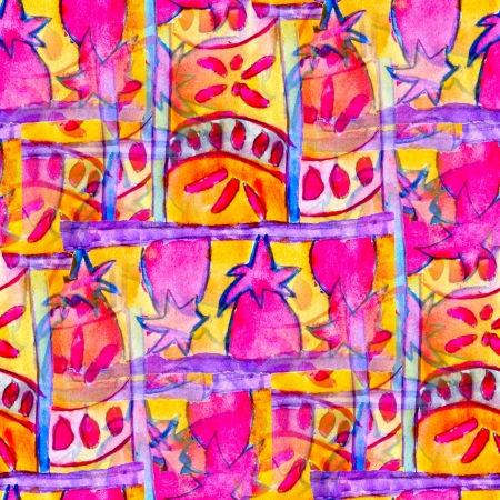 pink yellow seamless cubism abstract art Picasso texture watercolor wallpaper background photo