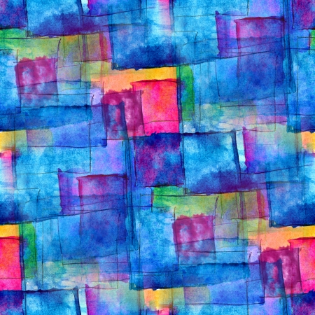 seamless blue cubism abstract art texture watercolor wallpaper background