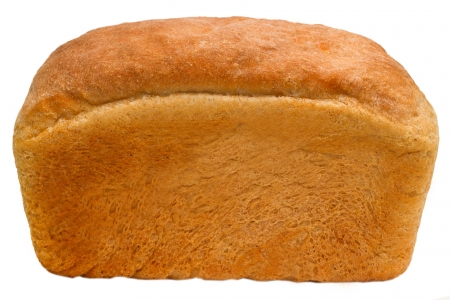 loaf of bread baking delicious isolated (clipping path) photo
