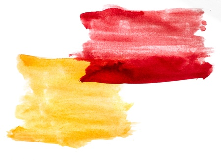 daub: watercolor yellow red background abstract paper art daub  texture isolated wallpaper