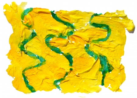 daub: art daub watercolor yellow green ornament background abstract paper texture isolated wallpaper