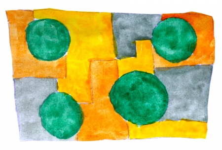 daub: watercolor yellow green blue background abstract paper art daub  texture isolated wallpaper