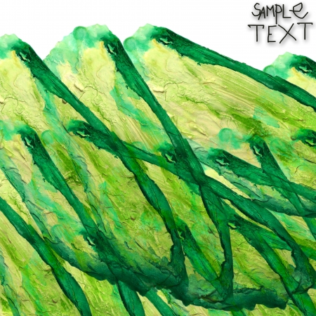 prejudiced: background art hand green watercolour brush texture isolated