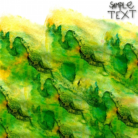 prejudiced: background hand art watercolor green brush texture isolated