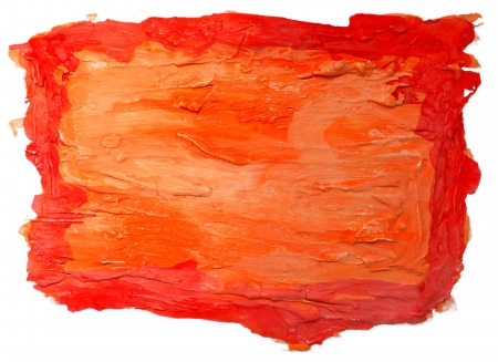 orange red watercolor isolated on white for your design photo