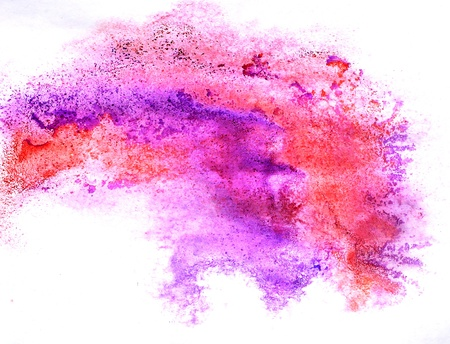 prejudiced: red purple watercolor isolated on white for your design