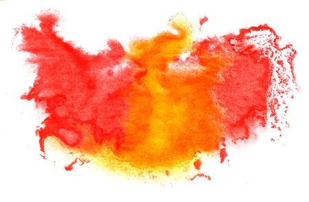 red yellow red watercolor isolated on white for your design photo