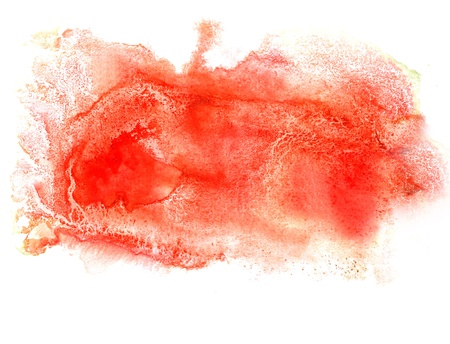 watercolor isolated red on white for your design photo