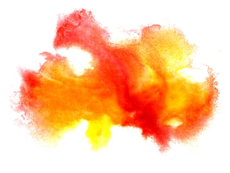 prejudiced: watercolor isolated red yellow on white for your design
