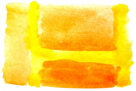 prejudiced: watercolor yellow isolated on white for your design Stock Photo