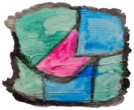 prejudiced: art blue green pink watercolor isolated for your design