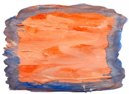 prejudiced: art blue orange table spot watercolor isolated for your design