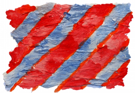 prejudiced: art blue, red, stripes watercolor isolated for your design