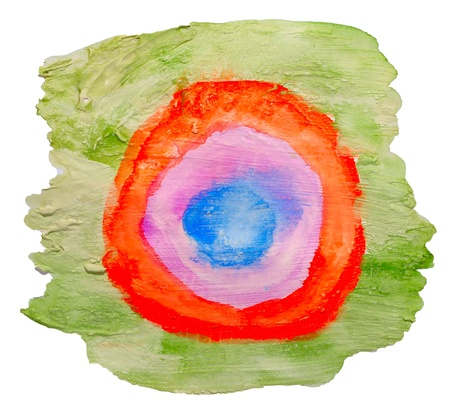 art green red circle ornament watercolor isolated for your design Stock Photo - 17831098