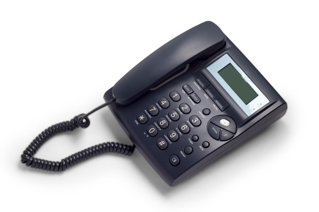 modern business phone isolated on white background photo