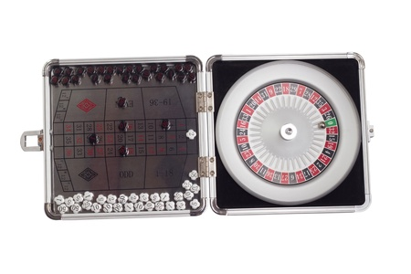 American Roulette table game sealed board game clipping path photo