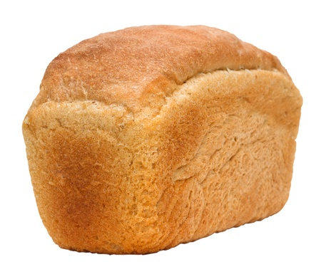 loaf of bread russian isolated on white background clipping path