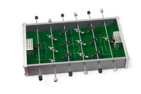 table football game is isolated board white background photo