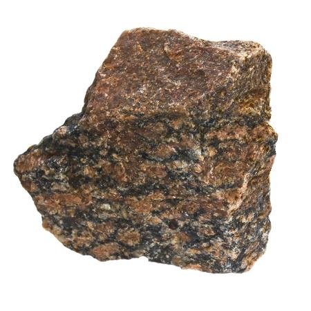 granite stone brown isolated on white background  in my portfoli photo