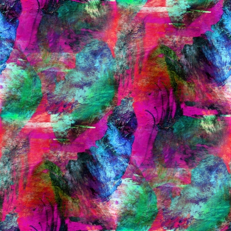 seamless wallpaper green, pink watercolor brown abstract avant-g Banque d'images