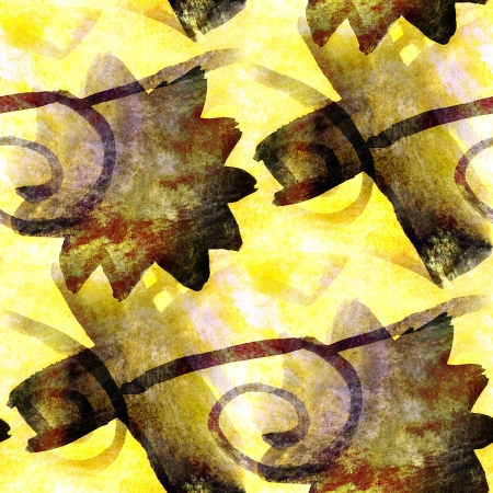 yellow, black seamless wallpaper watercolor abstract avant-garde photo