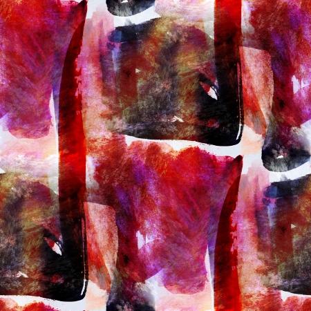 ar: red, black seamless wallpaper watercolor abstract avant-garde ar Stock Photo