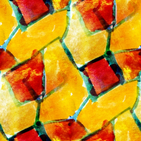 red, yellow seamless wallpaper watercolor abstract avant-garde a photo