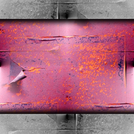rustiness: texture rusty red metal plate background your message wallpaper Stock Photo