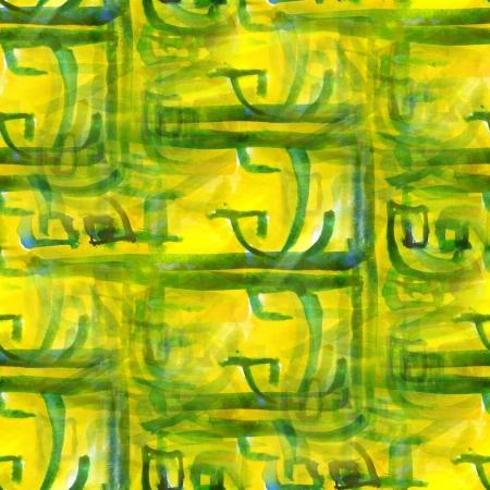 art avant-garde hand paint background seamless yellow, green wal photo
