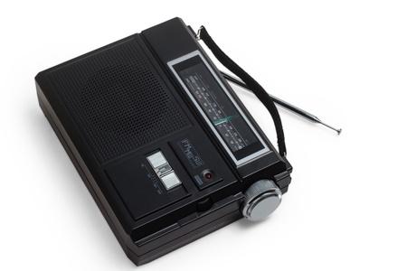 radio portable fm transistor old tuner set isolated fashioned photo