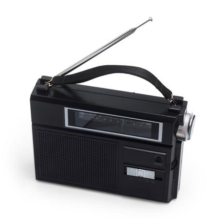 radio fm portable transistor old tuner set isolated fashioned photo