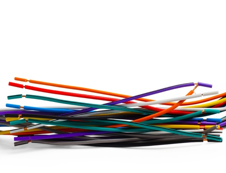 color wire cable technology equipment network plastic power elec