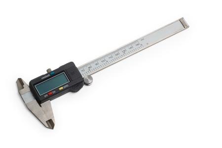 sliding caliper: caliper gauge tool vernier white metal instrument measure slide